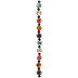 Multi-Color Round Shell Bead Strand