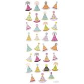 Birthday Hat Glitter Stickers