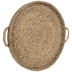 Beige Round Woven Tray Wall Decor - Large