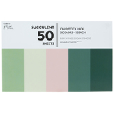 "Succulent Cardstock Paper Pack - 8 1/2"" x 11"""