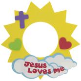 Jesus Loves Me Frame Foam Craft Kit