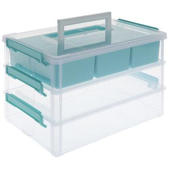 Turquoise Three-Tiered Storage Organizer