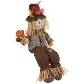 Scarecrow With Acorns Shelf Sitter