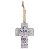 Matthew 12:21 Cross Ornament