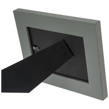 "Gray Wood Frame With Metal Trim - 6"" x 4"""