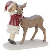 Girl Hugging Deer