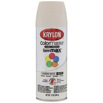 Modern White Krylon ColorMaster Matte Spray Paint & Primer