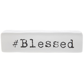 White & Black Blessed Decor