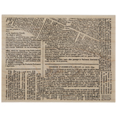 Newspaper Background Rubber Stamp