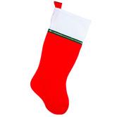 """Red & White Non-Woven Stocking - 33"""""""