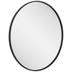 Black Round Metal Wall Mirror - Small