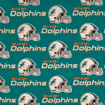 NFL Miami Dolphins Cotton Fabric