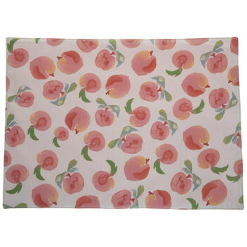 Watercolor Peaches Placemat