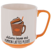 Autumn Leaves & Pumpkin Lattes Please Mug
