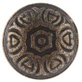 Antique Bronze Heart Round Metal Knob