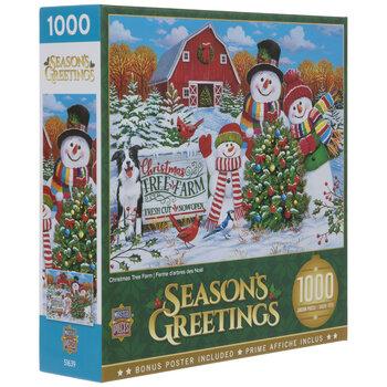 Christmas Tree Farm Season's Greetings Puzzle