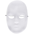 White Male Full Face Mask - Small