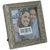 "Silver Beaded Edge Frame - 3"" x 3"""