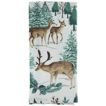 Deer & Pine Kitchen Towel