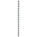 Gray Round Silicone Bead Strand - 8mm