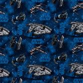 Star Wars Ships Cotton Calico Fabric