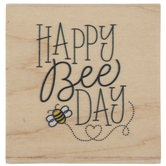 Happy Bee Day Rubber Stamp