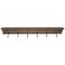 Slim Wood Wall Shelf With Hooks
