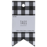 Buffalo Check Craft Tags