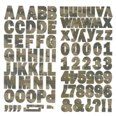 Camo Franklin Alphabet Stickers