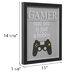 Gamer Controller Framed Wall Decor