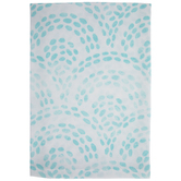 Aqua Fish Scale Cloth Napkin