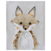Gray & Brown Fox Canvas Wall Decor
