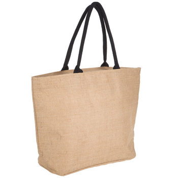 Laminated Jute Bag With Zipper