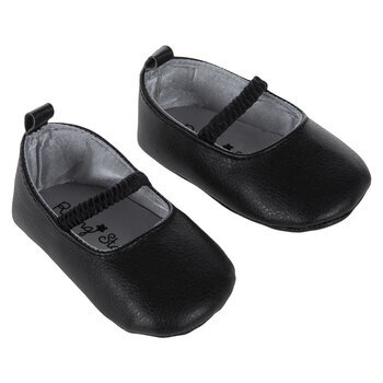 Black Dressy Crib Shoes - 3-6 Months