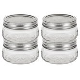Wide Mouth Glass Mason Jars - 8 Ounce