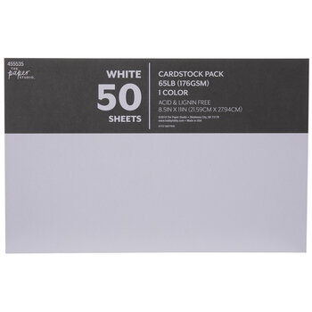 "White Cardstock Paper Pack - 8 1/2"" x 11"""
