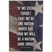 We Never Forget American Flag Wood Wall Decor