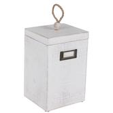 Whitewashed Rectangle Box
