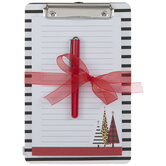 Striped Clipboard With Pen & Notepad