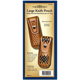 Leather Knife Pouch Kit - Large