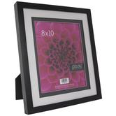 "Black Wood Double Mat Frame - 8"" x 10"""