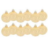 Gold Mercury Ball Ornaments