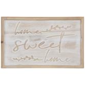 Whitewash Home Sweet Home Wood Wall Decor