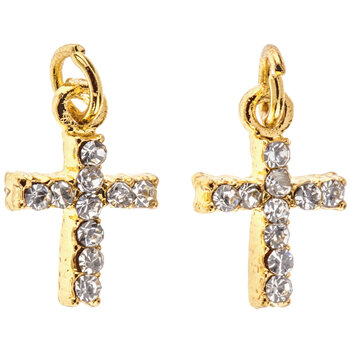 Cross Rhinestone Charms