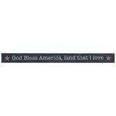 God Bless America Wood Decor
