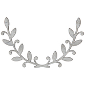 Half Circle Galvanized Metal Wreath