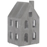 Gray House Cement Candle Holder