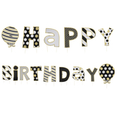 Black & Gold Happy Birthday Yard Signs
