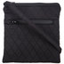 Black Quilted Mini-Crossbody Handbag