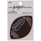 Football Glitter & Rhinestones Sticker